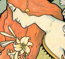 The Red-Haired Lady (Ermitage) art nouveau masterpiece Sticker