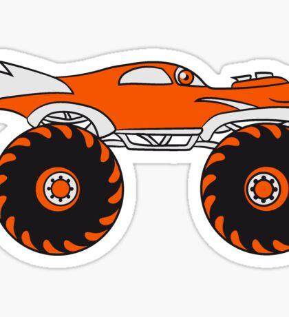 cool monster truck comic eyes face cartoon cars turbo Sticker
