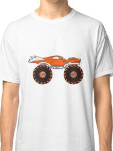 cool monster truck comic eyes face cartoon cars turbo Classic T-Shirt