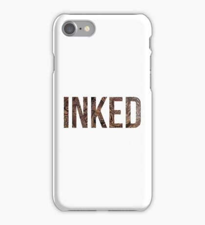 Inked - Tattoo Design - on white iPhone Case/Skin