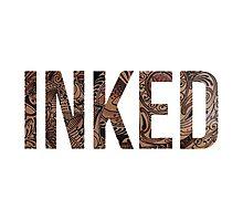 Inked - Tattoo Design - on white Photographic Print