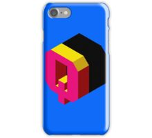 Letter Q Isometric Graphic iPhone Case/Skin