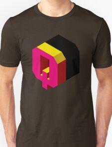 Letter Q Isometric Graphic Unisex T-Shirt