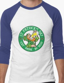 St Patrick's Day Celebrations Variant Men's Baseball ¾ T-Shirt