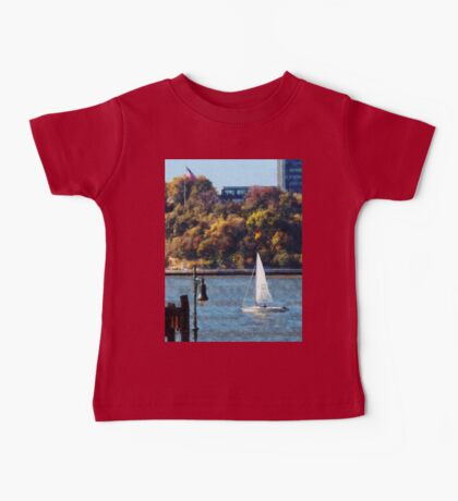 Sailboat Near Chelsea Pier Baby Tee