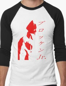Brocken Jr Stencil Men's Baseball ¾ T-Shirt