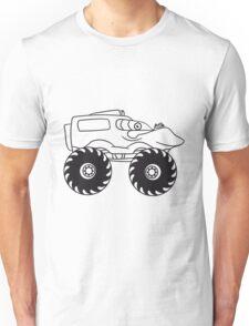 cool monster truck comic eyes face cartoon cars Unisex T-Shirt