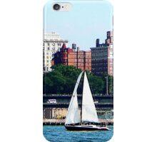 New York - Sailboat Against Manhattan Skyline iPhone Case/Skin