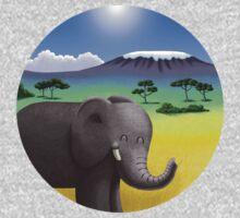 Cute Elephant in Africa Kids Tee