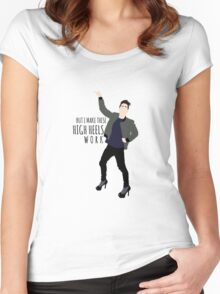 But I Make These High Heels Work Women's Fitted Scoop T-Shirt