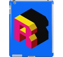 Letter R Isometric Graphic iPad Case/Skin