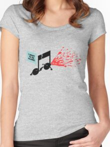 break-up song Women's Fitted Scoop T-Shirt