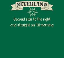 Neverland Second Star To The Right And Straight On Til Morning T Shirt Womens Fitted T-Shirt