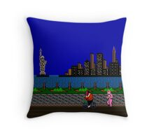 Punch Out Night Scene Throw Pillow