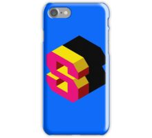 Letter S Isometric Graphic iPhone Case/Skin
