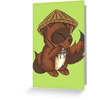 Tanuki Trickster Greeting Card