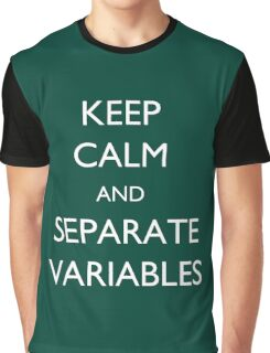 Calculus Keep Calm Message Graphic T-Shirt