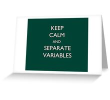 Calculus Keep Calm Message Greeting Card
