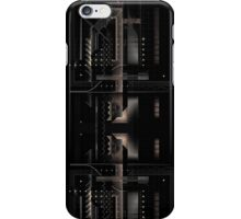 Composition of golden abstract geometry #5 iPhone Case/Skin