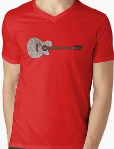 London Guitar Mens V-Neck T-Shirt