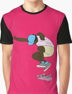 Pink Skater Graphic T-Shirt