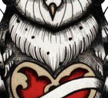 old school owl Sticker