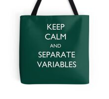 Calculus Keep Calm Message Tote Bag
