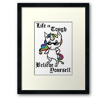 Tough Unicorn Framed Print