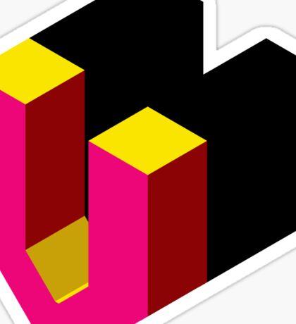 Letter V Isometric Graphic Sticker