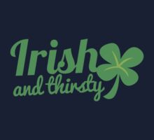 Irish and thirsty! with cute clover St Patricks day shamrock One Piece - Long Sleeve