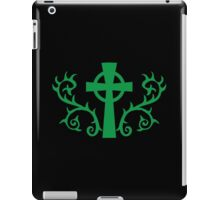 Green gothic cross with thorns iPad Case/Skin