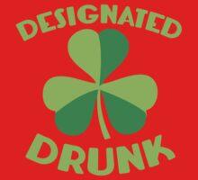 DESIGNATED drunk with Irish shamrock One Piece - Short Sleeve
