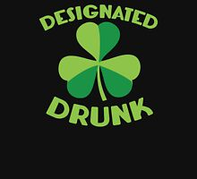 DESIGNATED drunk with Irish shamrock Womens Fitted T-Shirt