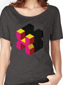 Letter X Isometric Graphic Women's Relaxed Fit T-Shirt