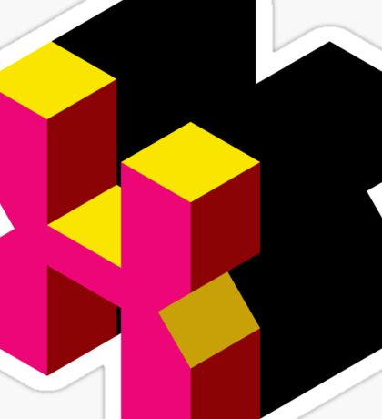 Letter X Isometric Graphic Sticker