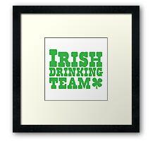 Irish drinking team Framed Print