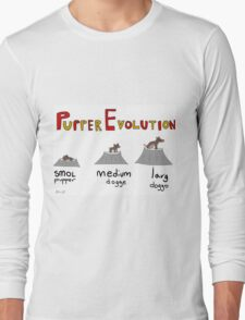 Pupper Evolution:  A Smol Pupper Comic Long Sleeve T-Shirt