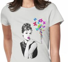 Elegance is the beauty that never fades Womens Fitted T-Shirt
