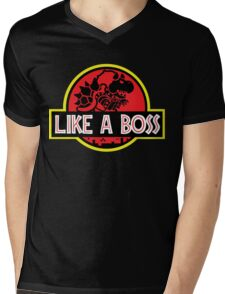 Jurassic BOSS Mens V-Neck T-Shirt