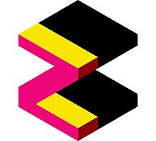 Letter Z Isometric Graphic Photographic Print