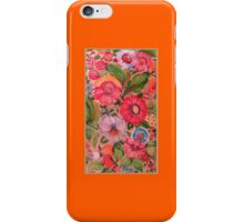Hot Summer of Love Pink Flower Burst Folk Art Kirsten Designs iPhone Case/Skin