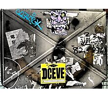 deceive...street art...Hong Kong Photographic Print