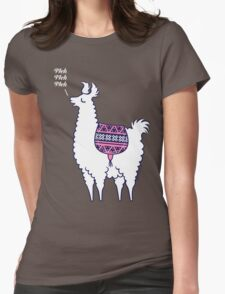 Aztec Alpaca - meh meh meh Womens Fitted T-Shirt