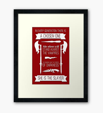 Buffy the Vampire Slayer - Chosen One Framed Print
