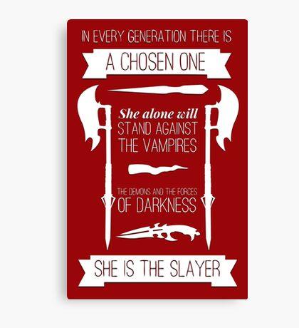 Buffy the Vampire Slayer - Chosen One Canvas Print