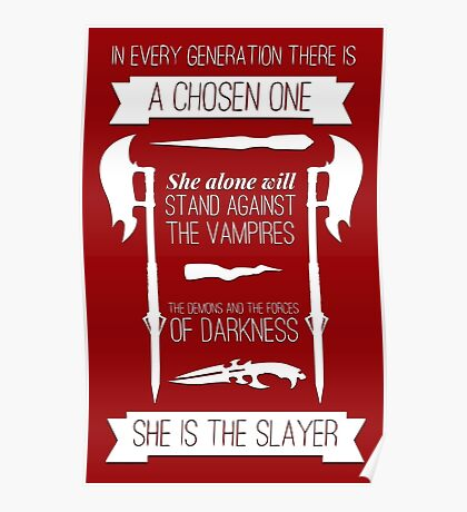 Buffy the Vampire Slayer - Chosen One Poster