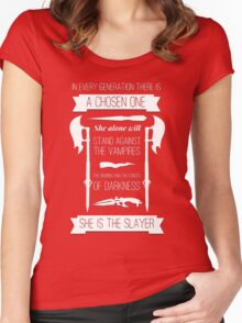 Buffy the Vampire Slayer - Chosen One Women's Fitted Scoop T-Shirt