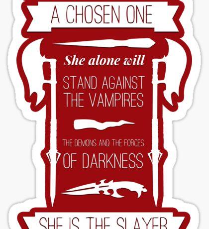 Buffy the Vampire Slayer - Chosen One Sticker