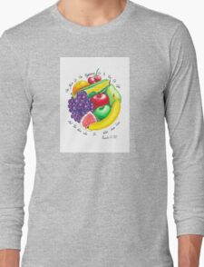 Summer Fruit Long Sleeve T-Shirt
