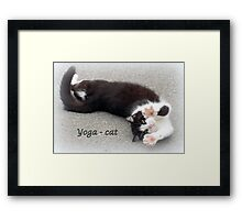 Yoga - Cat Framed Print